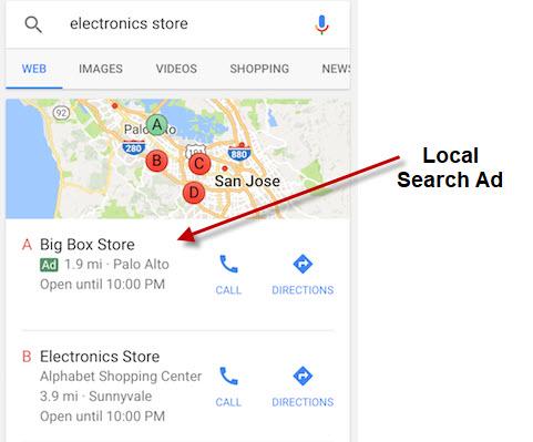 Local Search Ad Demo